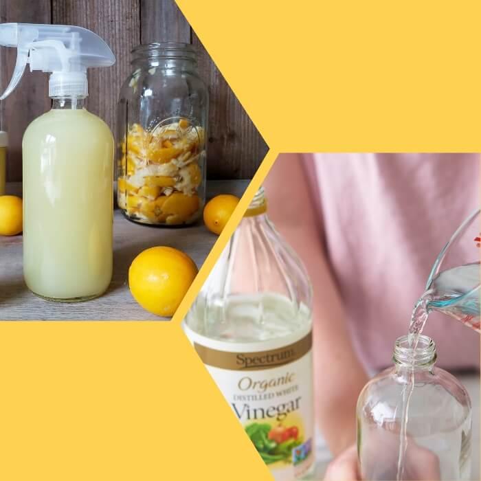 recipiente de spray con repelente de limón